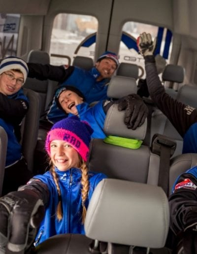 CB Nordic Team in their new van - photo credit Xavier Fane