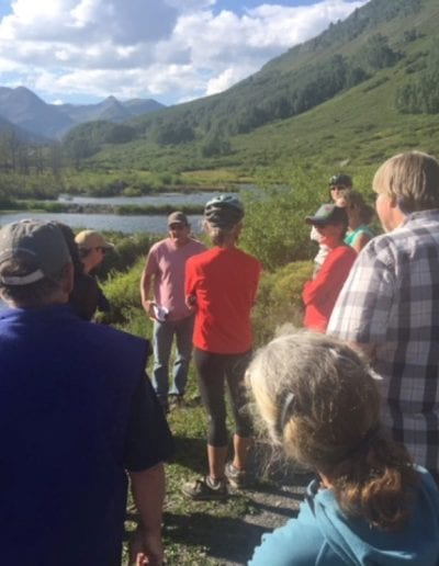 CBLT staff and project ecologist, Mark Beardsly, hosting community site visit
