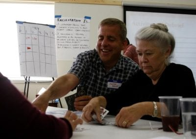 Carlton and Katie - facilitation exercise - photo cred Roberta Marquette